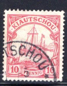 Kiautschou / Kiauchau #12, Litsun CDS postmark CV€15+