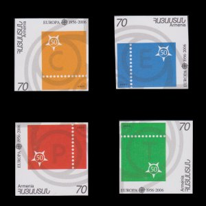 50th ANNIVERSARY EUROPA FIRST STAMP ISSUE. COUNTRY ARMENIA . SCOTT # 736 - 39.