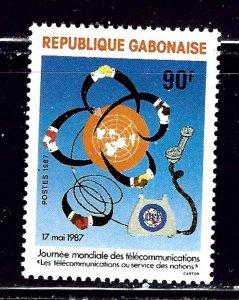 Gabon 616 MNH 1987 World Telecommunications Day    (ap2195)