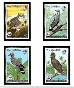 Gambia 381-84 MNH 1978 Birds of Prey