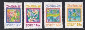 Norfolk Island # 440-443, Christmas - Childrens Art, NH, 1/2 Cat.