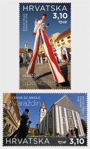 2018 Croatia Tourism - Varadzin (2) (Scott 1073-74) MNH