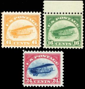 C1-C3, Mint VF NH First Three Airmail Stamps Cat $390.00 -- Stuart Katz