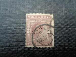Stamps Edward V11 Two Shillings and Sixpence Dull Purple.