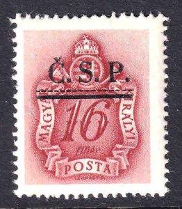 HUNGARY J158 CZECHOSLOVAKIA Č.S.P. 1944 OVERPRINT OG NH U/M F/VF