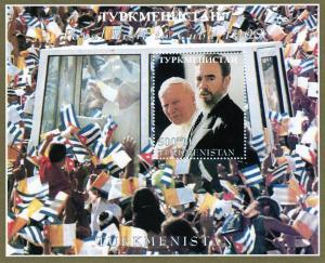 Turkmenistan 1998  Pope John Paul II Visit to Cuba Perforated YT #Bl.16 MNH