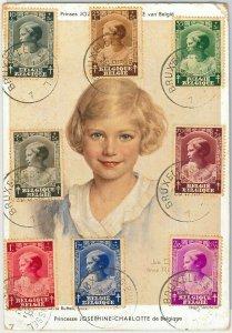 56998 - BELGIUM - POSTAL HISTORY: MAXIMUM CARD 1937 - ROYALTY