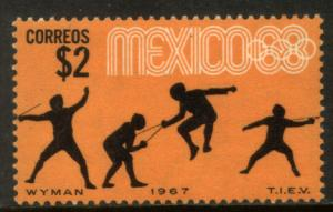 MEXICO 985, $2P Fencing 3rd Pre-Olympic Set 1967. MOG