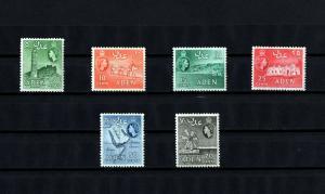 ADEN - 1956 - QE II - MINARET - CAMEL - MAP - SALT WORKS + 6 X MINT MNH SINGLES!