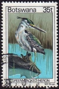 Botswana 209 - Used - 35t Green-backed Heron (1978) (cv $3.35)