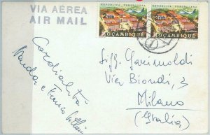 67161 - Mozambique  - Postal History - POSTCARD  to ITALY 1950'S - ETHNIC