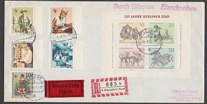 GERMANY 1971 Registered cover - nice franking...............................B376