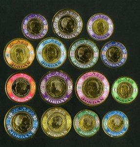 Jordan Stamps # 535-7 VF Scarce set OG LH