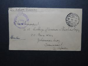 Egypt 1941 Active Censor Cover to South Africa (II) - Z11568