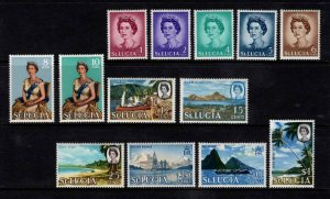 St Lucia 1964-69 Elizabeth II Definitive Partial Set