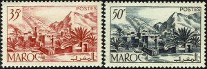French Morocco #259-60  MNH - Todra Valley (1950)