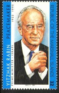 MARSHALL ISLANDS 1995 YITZHAK RABIN Israel Issue Sc 601 MNH
