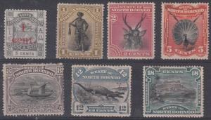 North Borneo Scott 57 // 66 Mint hinged lot - read description