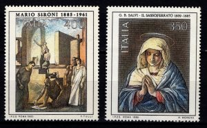Italy 1985 Anniversaries of Italian Artists Set [Mint]