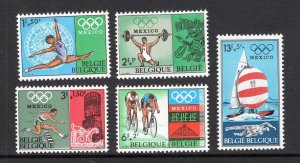 Belgium MNH B824-8 Mexico Olympics 1968