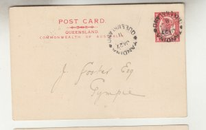 QUEENSLAND, Postal Card PTPO. 1911 1d. Red, PERRY BROTHERS, Yandina to Gympie