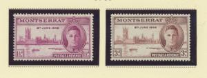 Montserrat Scott #104 To 105, Mint Never Hinged MNH, Two Stamp Peace With Geo...