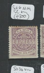 SAMOA (P1306B) EXPRESS ALL CHECKED BY LATE JACK HUGHES 6D  SG 6  MOG SL THIN