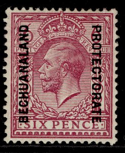 BECHUANALAND PROTECTORATE GV SG81, 6d reddish purple, M MINT.
