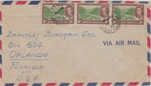 British Honduras 10c KGVI Mahogany Logs in River (3) 1953 Belize, British Hon...