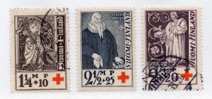 Finland - Sc# B12 - B14 / Facit# 185 - 187 MH & Used  -  Lot 0914020