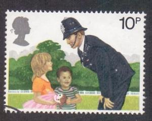 Great Britain 1979 used metropolian police 10p  policeman on the beat   #
