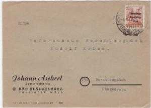 Russian Occupied Germany 1948 Thuringer  stamps cover R20776