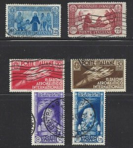 ITALY #262-263 AND #345-348 ... Excellent Stamps