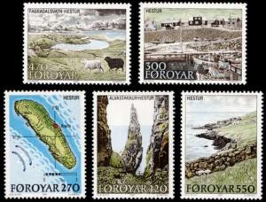 Faroe Islands #161-165 Fa156-160 MNH CV$6.65