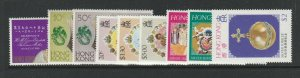 Hong Kong 4 QE2 Royalty issues as shown UM/MNH
