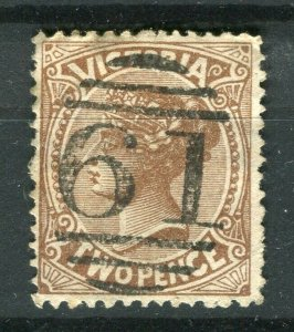 AUSTRALIA; VICTORIA 1890s-1900 early QV issue used 2d. value + POSTMARK