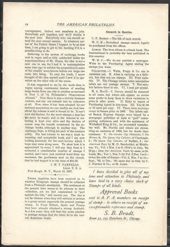 Doyle's_Stamps: APS Members' Delight- The American Philatelist, Vol. 1, No. 3