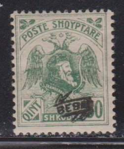 ALBANIA Scott # 139 MH - With Overprint
