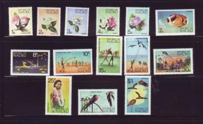 Nauru Sc  91-104 1973 views Floora Fauna stamp set mint NH