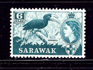 Sarawak 200 MH 1955 Hornbilll