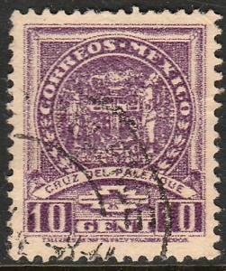MEXICO 788, 10c 1934 Definitive Palenque cross. Used. (763)