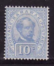 Sarawak-Sc#41- id7-unused hinge remnant $0.10 ultra -og-Sir Charles J Brooke-189