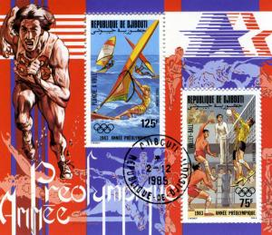 DJIBOUTI 2.12.1985 PRE OLYMPICS Year Souvenir Sheet Perforated Fine Used