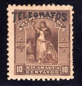 RH#44,H44, Type 12, 10c brown -MLHOG (streaky gum) - Nicaragua Telegraph ...