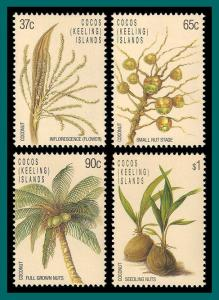 Cocos 1988 Coconut Life Cycle, MNH  173-176,SG180-SG183