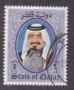 Qatar # 709, Sheik Khalifa, Used, 1/3 Cat.
