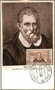 90057 - ITALY - Postal History -  MAXIMUM CARD 1954  MARCO POLO  maps