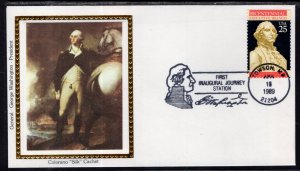 US First Inaugural Journey Towson,MA 1989 Colorano Cover