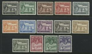 Turks and Caicos KGVI 1938-45 complete set mint o.g.