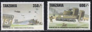Tanzania # 1271-1272, D Day Anniversary, Tanks, NH, 1/2 Cat